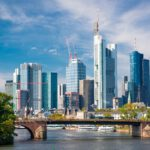 Frankfurt, Germany skyline over the Main River